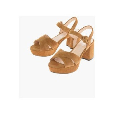 PRADA/プラダ Brown レディース Suede Platform Sandals 7 Cm dk