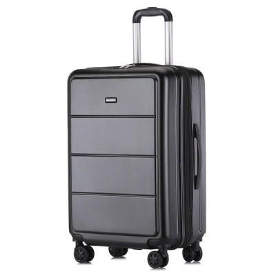 [20in,Grey]BAOFLY男性旅行スーツケースアルミ合金パスワードロックユニバーサルホイール荷物ケース女性トランク