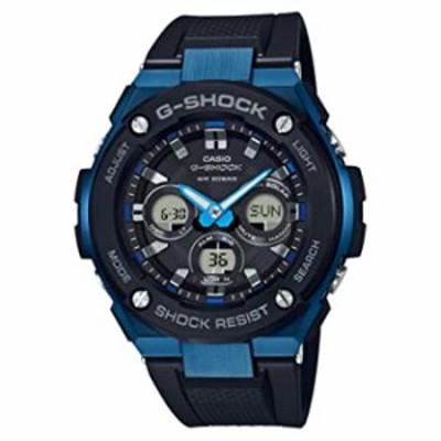 腕時計  Casio G-Shock G-STEEL SLIM メンズ タフソーラー ブラック ブルー 腕時計  GSTS300G-1A2