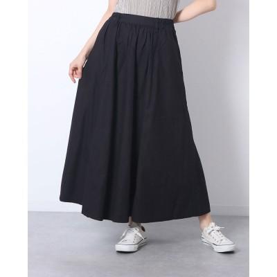 アットワン atONE ツイルマキシギャザースカート (BLACK)