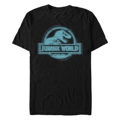 フィフスサン Tシャツ トップス メンズ Jurassic World Fallen Kingdom Men's System Breach Logo Icon Short Sleeve T-Shirt Black