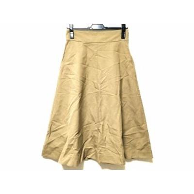 マーガレットハウエル MargaretHowell ロングスカート サイズ1 S レディース ベージュ【中古】20200704