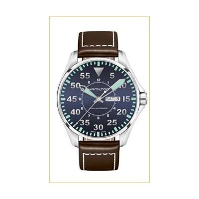 Hamilton Khaki Aviation Pilot Automatic Blue Dial Men's Watch H64715545 並行輸入品