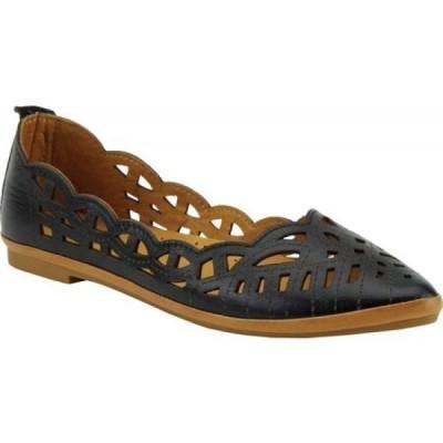 スプリングステップ Spring Step レディース スリッポン・フラット シューズ・靴 Perlita Pointed Toe Flat Black Leather