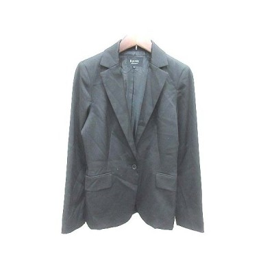 【中古】エムプルミエ M-Premier テーラードジャケット 総裏地 ウール 36 黒 ブラック /YK レディース 【ベクトル 古着】
