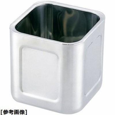 ユキワ AKK8301 18-8ダブルウォール角キッチンポット((蓋無)13.5?p)