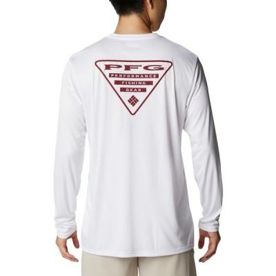 コロンビア シャツ トップス メンズ Columbia Sportswear Men's PFG Terminal Tackle Destination Texas Long Sleeve Fishing Shirt White