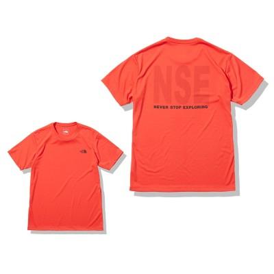 ノースフェイスウェアNSE 半袖Tシャツ NT32175 HRレッド