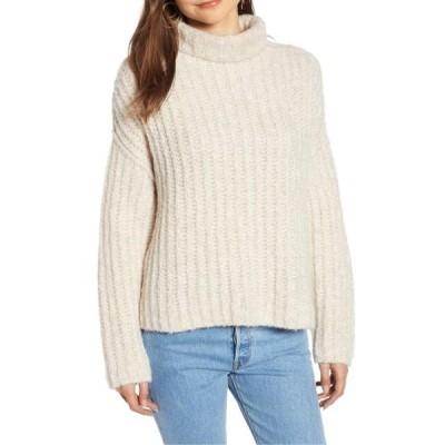 レディース 衣類 トップス Women's Sweater Medium Turtleneck Boxy M ブラウス&シャツ