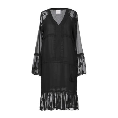 LOUXURY ミニワンピース&ドレス ブラック S ポリエステル 100% ミニワンピース&ドレス