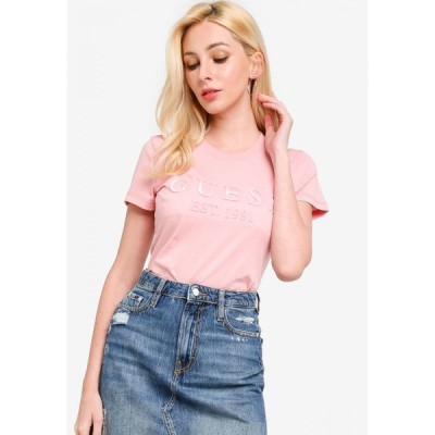 ゲス Guess レディース Tシャツ トップス Short Sleeve Embelished T-Shirt Light Pink