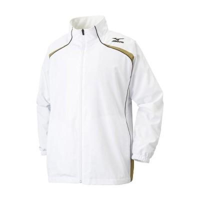 ミズノ ウィンドブレーカーシャツ(バスケットボール) ホワイト×ゴールド×ブラック Mizuno W2JE6501 01