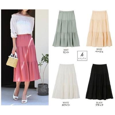 お値下げ!■全5色■3段切り替え・ロングスカート