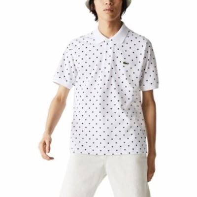 ラコステ LACOSTE メンズ ポロシャツ トップス Classic Fit Polo White/Navy Blue