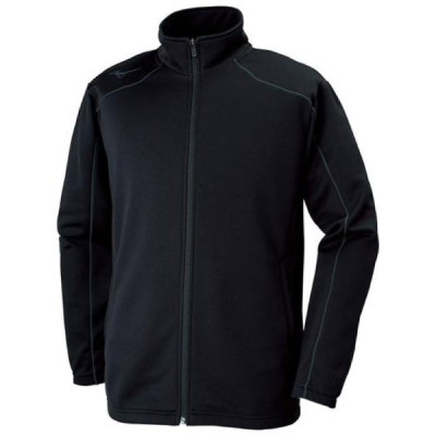 MIZUNO ミズノ ウォームアップジャケット トレーニングウエア トップス ユニセックス 2019年春夏 吸汗速乾 ブラック×チャコール 32MC9125