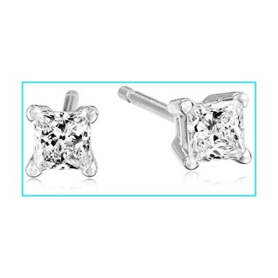 IGI Certified Platinum Princess Diamond Stud Earrings (1/3 cttw, G-H Color, VS2 Clarity)【並行輸入品】