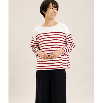 <I.T.'S. INTERNATIONAL(Women)/イッツインターナショナル> パネルボーダーバスクTシャツ アカ【三越伊勢丹/公式】