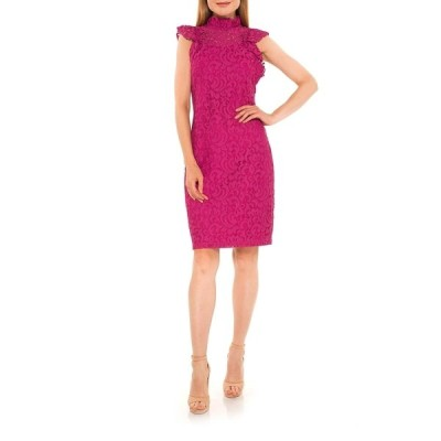 アレクシアアドマー レディース ワンピース トップス Kendall Lace Cap Sleeve Sheath Dress PINK BERRY