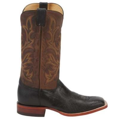ジャスティンブーツ メンズ ブーツ・レインブーツ シューズ Pascoe Ostrich Square Toe Cowboy Boots
