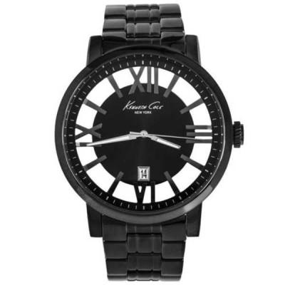 腕時計 ケネスコール Kenneth Cole クォーツ ブラック Gunmetal Ion プレート ケース メンズ ドレス 腕時計 KC9316