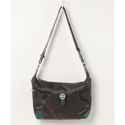 ショルダーバッグ バッグ 【撥水】バックルデザインショルダーバッグ