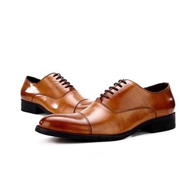 [Fengbao] リーガル 靴 ビジネスシューズ メンズ クラシック メダリオン&ウイングチップ 本革 フラット ストレートチップ イタリア 紳士靴