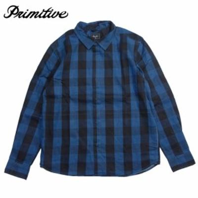 【Primitive/プリミティブ】チェックシャツ ジャケット 長袖シャツ/INDIGO CHECK L/S