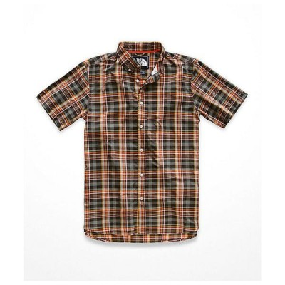 (取寄)ノースフェイス メンズ モナドノック SS シャツ The North Face Men's Monanock SS Shirt Weathered Black Brutus Plaid