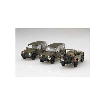 フジミ模型 1/72 ミリタリーシリーズNo.12 EX-1 陸上自衛隊 1/2tトラック(部隊用) (ディスプレイ用彩色済み展示台座付き) ML12EX-1 72M-12