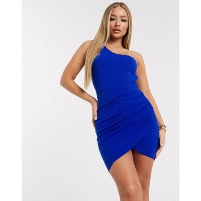 アックスパリス AX Paris レディース ワンピース ワンピース・ドレス Ax Paris One Shoulder Dress In Cobalt ブルー