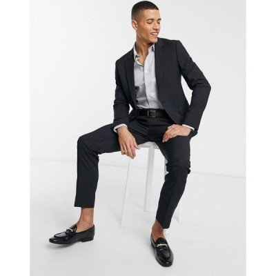 エイソス メンズ カジュアル ボトムス ASOS DESIGN skinny suit pants in navy Navy