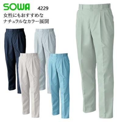 作業服 作業着 秋冬用  作業ズボン スラックス 桑和SOWA4229