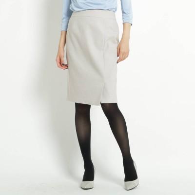 クードシャンス COUP DE CHANCE サイドスリットドビーIラインスカート (ナチュラル)
