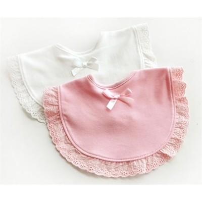 ビブ スタイ お食事エプロン よだれかけ 赤ちゃん 新生児 ベビー 女の子 男の子 ギフト 出産祝い ホワイト ピンク