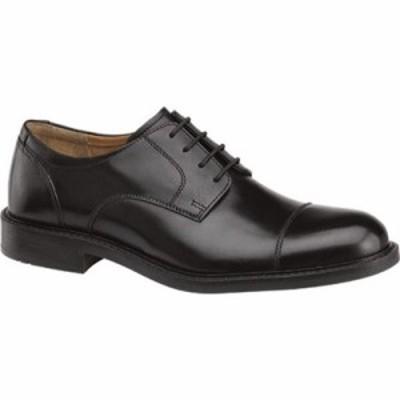 ジョンストン&マーフィー 革靴・ビジネスシューズ Tabor Cap Toe Derby Black Calfskin