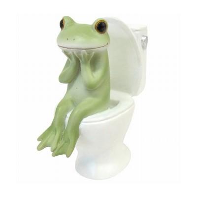 Copeau コポー トイレとカエル トイレ トイレット  小物 オブジェ カエル 置き物 置物 オブジェ 蛙 フロッグ FROG ガーデン雑貨 インテリア雑貨 71738