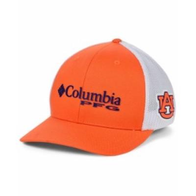 コロンビア メンズ 帽子 アクセサリー Auburn Tigers PFG Stretch Cap Orange/White