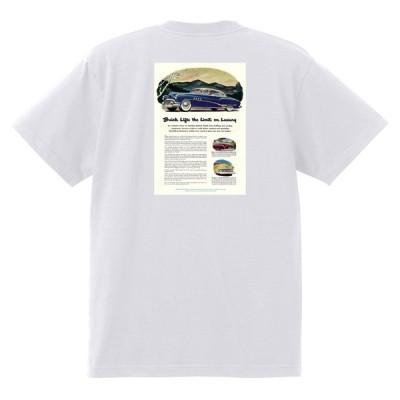 アドバタイジング ビュイック 313 白 Tシャツ 黒地へ変更可能  1951 スーパー リビエラ センチュリー ロードマスター オールディーズ