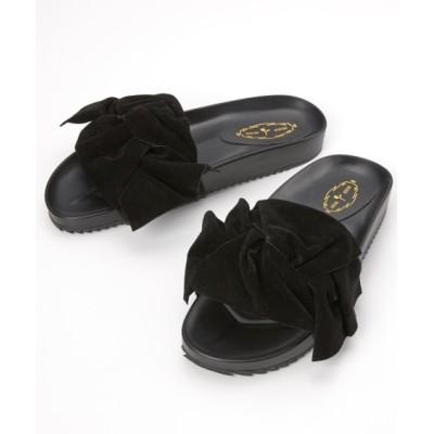 ビッグリボンサンダル(ワイズ4E) サンダル, Sandals