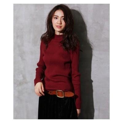 セーター ニット 大きいサイズ レディース 綿100% アシンメトリーリブ プルオーバー  LL/3L ニッセン