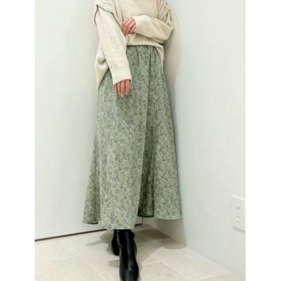 【テチチ/Te chichi】 花柄サテンマーメイドスカート