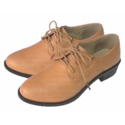 『レースアップシューズ レディースキャメル』ベーシックなシンプルデザイン 靴 約23~25cm用 ※代引不可 ジップ