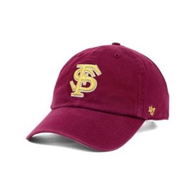 47ブランド メンズ 帽子 アクセサリー Florida State Seminoles Clean-Up Cap Cardinal Red
