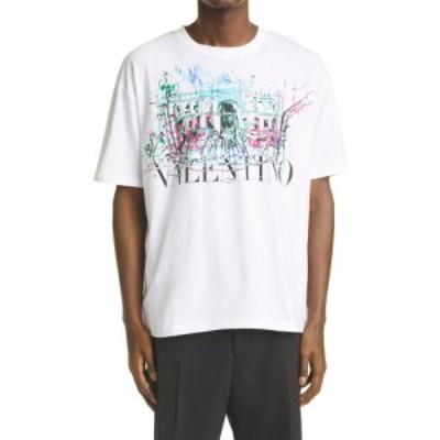 ヴァレンティノ VALENTINO メンズ Tシャツ トップス Roman Sketches Graphic Tee White