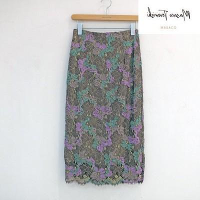 (SALE 20%OFF)MASAKO TERANISHI オーガンジーリボン刺繍入りスカート
