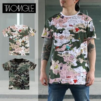 トゥーアングル Tシャツ 半袖 TWO ANGLE GAGE/メンズ/レディース/ユニセックス/カジュアル/ヒップホッ