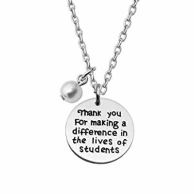 CAROMA Teacher Pendant Necklace Graduation Birthday Present Teacher's Day Appreciation Gift from Class Students