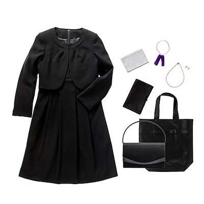 m426-09-7set ブラックフォーマル レディース 喪服 礼服 7点セット バッグ ネックレス