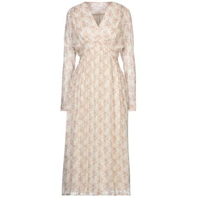 FRIDA ZAZOU 7分丈ワンピース・ドレス アイボリー 40 レーヨン 85% / ウール 15% 7分丈ワンピース・ドレス
