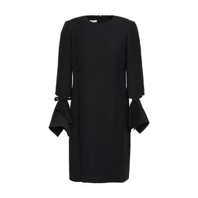 オスカー・デ・ラ・レンタ OSCAR DE LA RENTA ミニワンピース&ドレス ブラック 0 ウール 77% / シルク 23% ミニワンピー